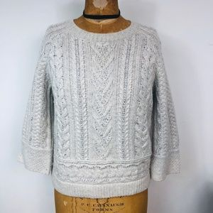 Sudance Catalog Lambswool Cable-Knit Sweater